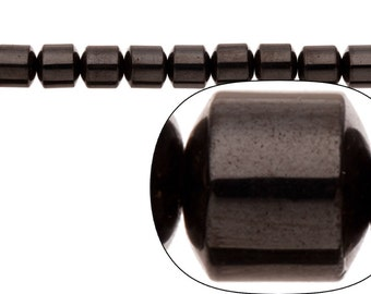 """Drum Magnetic Hematite Beads String sold per 16""""string 8mm"""