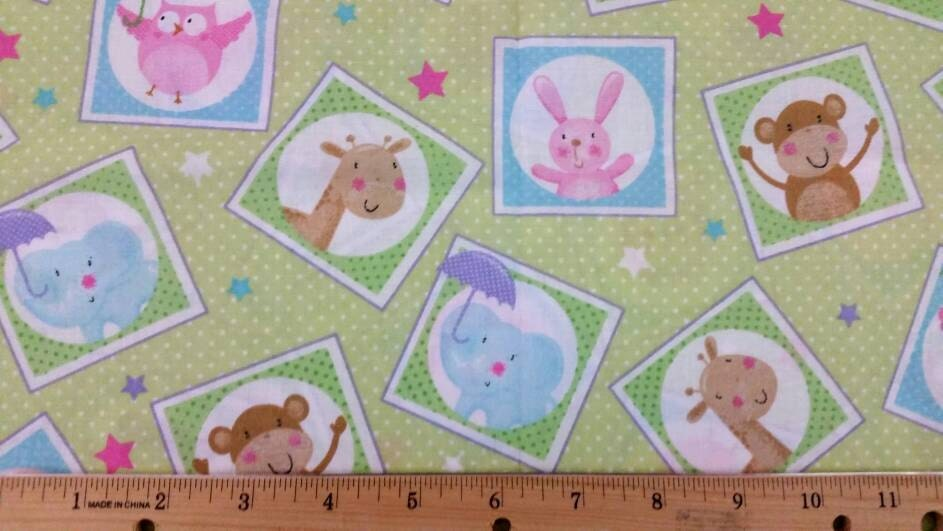 1 yard flannel baby girl flannel fabric by beechtreefabrics for Baby girl fabric