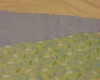Green and Yellow Fleece Quilt