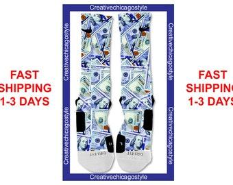 Custom Nike Elite Socks 100 All About the Benjamins