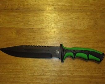 Green / Black Tac xtreme Zombie knife