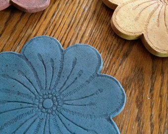 Decoration | Clay | Coasters - flower