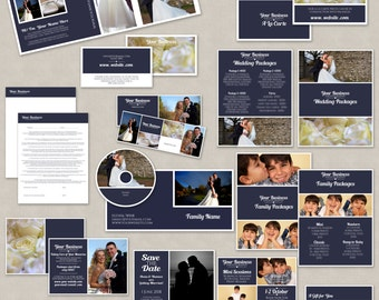 Marketing Set for photographers, marketing trifold for photography, marketing template set, photoshop marketing set templates, digital psd