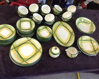 Vernon Kilns ceramic Gingham pattern