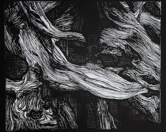 Black Eye Relief Print on black