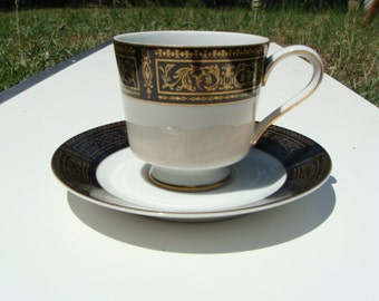 Seyei Anniversary 7018 Footed Coffee Cup and Saucer