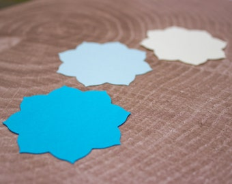 Blue Ombre Mandala Flower Die Cut - Card Making - Scrapbooking - Wedding