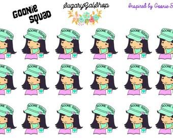 Goonie Squad Conductor Hat Planner Sticker Sheet
