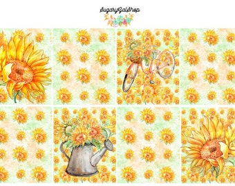 Sunflowers in the Garden Sticker Set