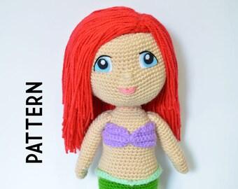 """18"""" Ariel Little Mermaid Crochet Pattern"""
