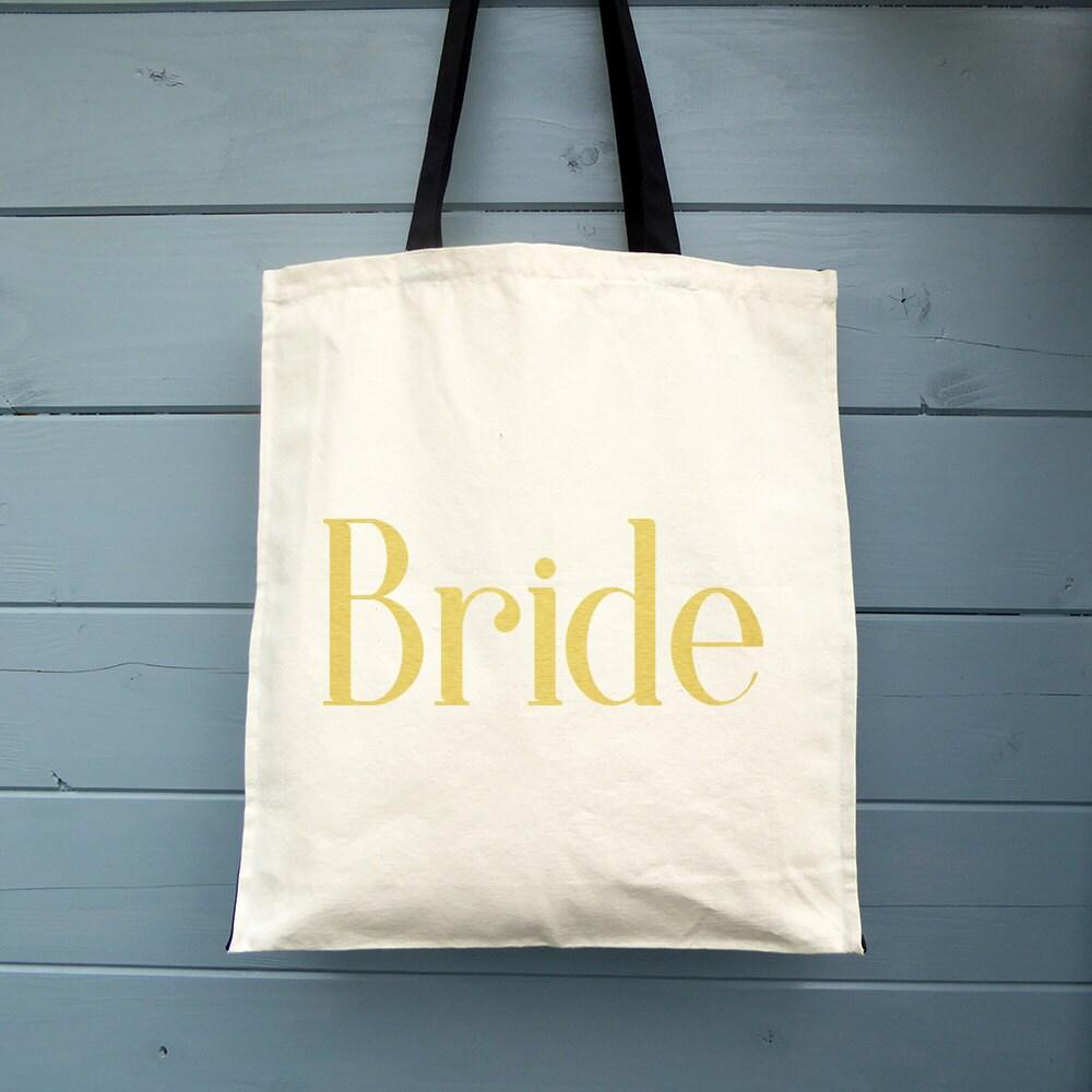 Bride Wedding Day Gift Brides Gift Canvas Tote Bag Wedding Tote