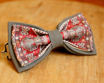 print bow tie, armenian bow tie, made in armenia, armfashion, papillion, man's bow tie, armenian carpet bow tie, armenian carpet pattern