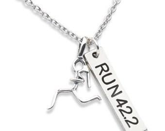 Running Necklace,  Running Jewelry, RUN 42.2