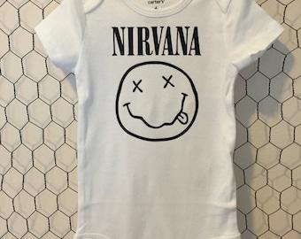 Nirvana Alternative Punk Rock Music Baby Bodysuit
