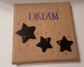 Dreamers Dream upon a star/Dreamers wish upon a star/Canvas Art/Wall Hanging/Picture/gifts for her