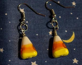 Halloween Candy Corn drop earrings