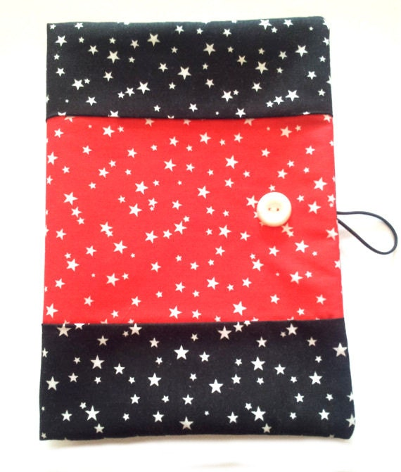 Journal cover, notebook cover, fabric book cover, cotton book cover, soft book cover, reusable book cover, book cover, stars fabric,