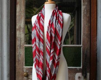 Yarn & Pattern Kit - 'Big Zig Loop Cowl' fingering/ 4 ply Merino/ Silk - 'Original' colourway.