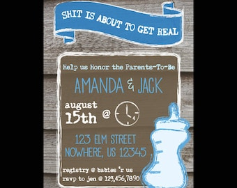 Funny Couple Baby Shower Invite