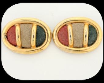 Vintage 3 Color Felt & Gold Plated SHOE CLIPS 18.50GR