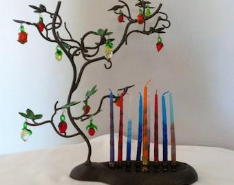 Tree Of Life Hanukkah Menorah