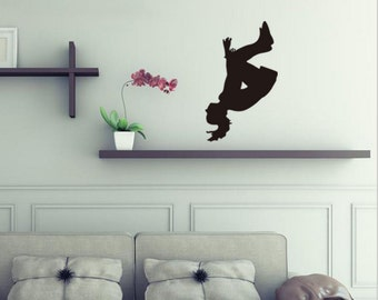 Cool exercise Parkour decal, outdoor exercise decal