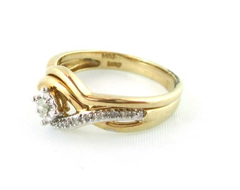 Vintage Wedding Band Set