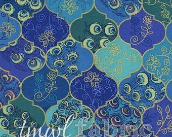 Woven Fabric - Peacock Valley w/Metallic - Fat Quarter Yard +