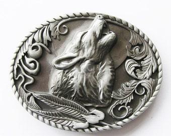 Original Western Wolf Head Belt Buckle