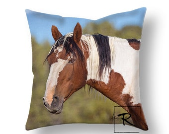 Wild horse, Picasso, decorative pillow