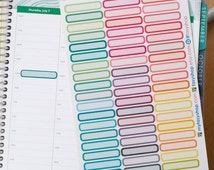 54 Single Box  - Sticker Planner / Perfect for Hourly Layout Erin Condren
