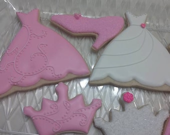 Princess Cookies (18 cookies) - available in all colors.