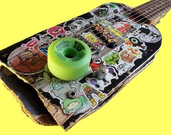 Skateboard Guitar - Stickerbombed sticker graffiti tele style telecaster