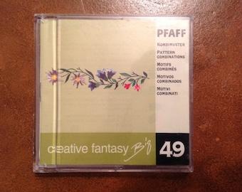 PFAFF Creative Fantasy Embroidery Card, #49
