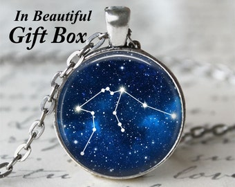 Zodiac Jewelry • Aquarius Star Sign • Aquarius Necklace • Constellation Necklace • Astrology Jewelry • Birthday Necklace • Aquarius Zodiac
