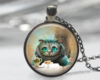 Cheshire Cat • Alice In Wonderland Jewelry • Alice in Wonderland Necklace • Fairy Tale Necklace • Fairy Tale Jewelry
