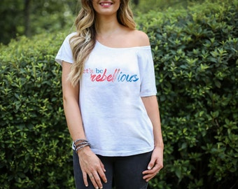 Ole Miss Rebels Let's Be Rebellious T-Shirt Ladies, Baby, Toddler and Kids Sizes