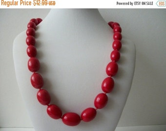 ON SALE Vintage TRIFARI Vibrant Red Necklace 1407