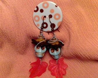 playful skull earrings
