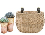Wicker Bicycle Basket | Vintage style Bike Basket | Photo Prop | Supply Container