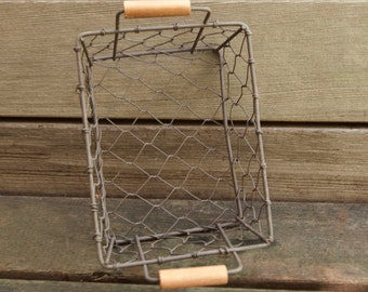 Chicken Wire Basket | Rustic Wire Basket Set of 5 |  Bulk Baskets | from the Tiny House Farm