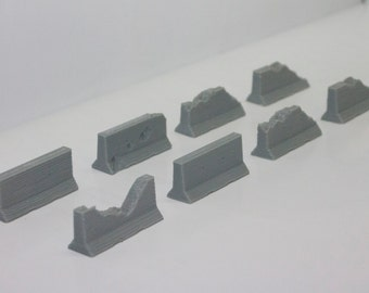 Jersey Barriers - 15 of your choice - (Tabletop/Smoothing now available)
