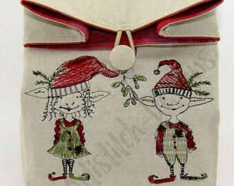 Christmas Elves - Cosmetic Sack