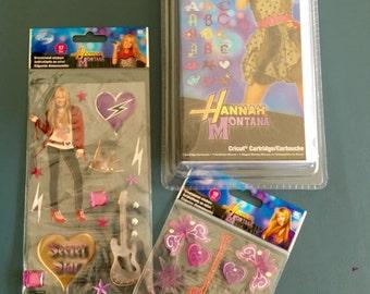 Rare! Disney's Hannah Montana Stickers & Cartridge Bundle