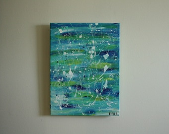 """Original Painting """"Bits and Pieces"""" 12 x 16 inches"""