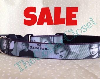 Ed Sheeran Print Unofficial Dog Collar