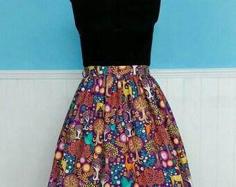 Gathered vintage style skirt custom made