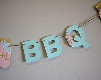 I DO BBQ Banner- Bridal Shower Banner- Wedding Banner