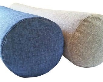 "Extra Long Feather Bolster Pillow - (58"" to 74""  long x  9"" diameter)"