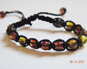 Ambre bracelet black macrame